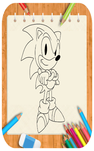 Draw cartoon Sonic for PC