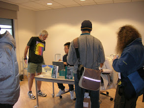Photo: Terry Speed buying his copy