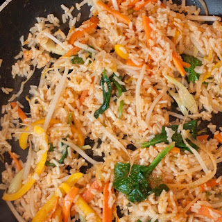 Healthy Fried Brown Rice.