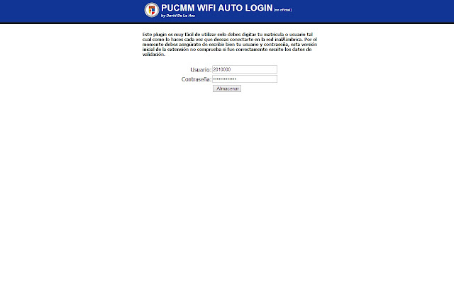 PUCMM WIFI Auto Login
