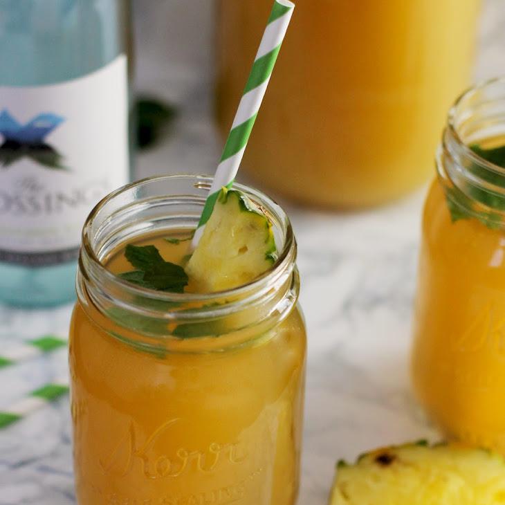 Mint Pineapple Sangria Recipe