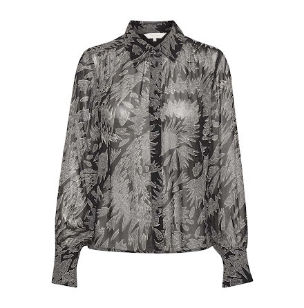 Part Two Esma blouse zig zag print black