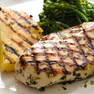 Mojito-Rubbed Chicken with Grilled Pineapple