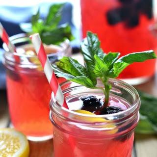 Blackberry Basil Vodka Lemonade.