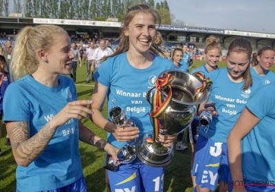 Club Brugge haalt opnieuw Red Flame weg bij KAA Gent Ladies