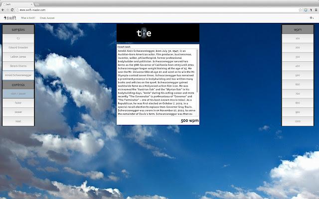 Swift Chrome Extension