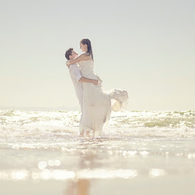Swept Away by Valerie Meyer - Wedding Bride & Groom ( val meyer photography beach wedding trash the dress stormy and s )