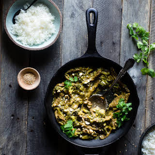 Curry Beef and Broccoli with Cashew Butter.
