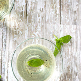 Basil Martini with Lime and Black Pepper