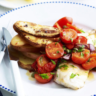 Baked Fish Fillets with Roasted Potatoes.