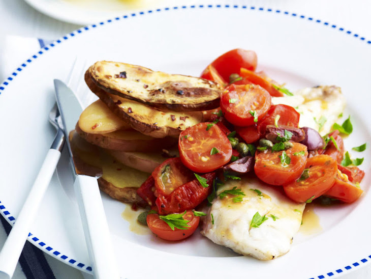 Baked Fish Fillets with Roasted Potatoes Recipe