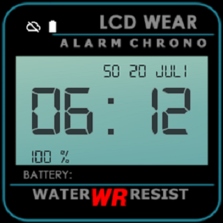 Retro LCD Wear Watchface- screenshot