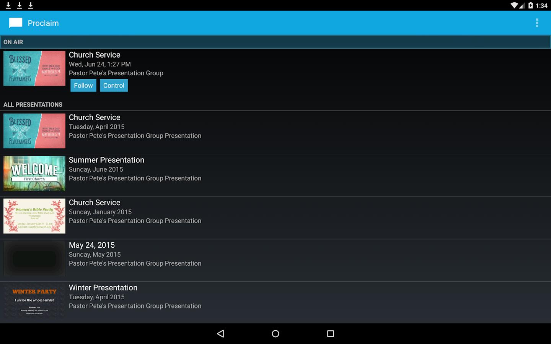 Proclaim Remote- screenshot