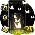 Neon Butterfly Glass Theme