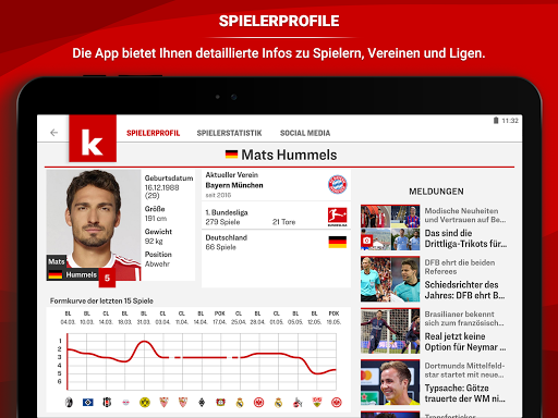 kicker Fuu00dfball News 5.7.0 screenshots 12