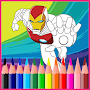 Learn To Coloring Superhero APK icon