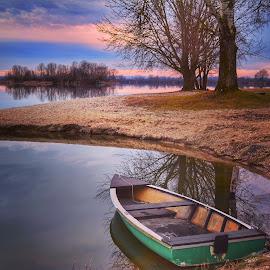 On the lake  by Dunja Milosic Odobasic - Transportation Boats