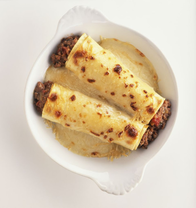 Meat-Filled Cannelloni - Manicott in Bechamel Sauce