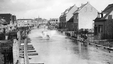 Photo: Jaren 30 grote wateroverlast in de Oranjeboomstraat.