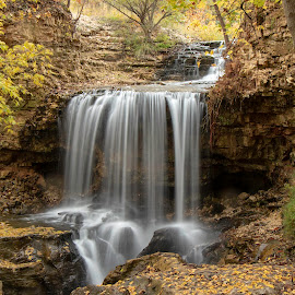 FALLS IN THE OZARKS by Dana Johnson - Landscapes Waterscapes ( waterfalls, falls, waterscape, cascade, landscape )
