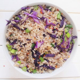 Red Cabbage Rice