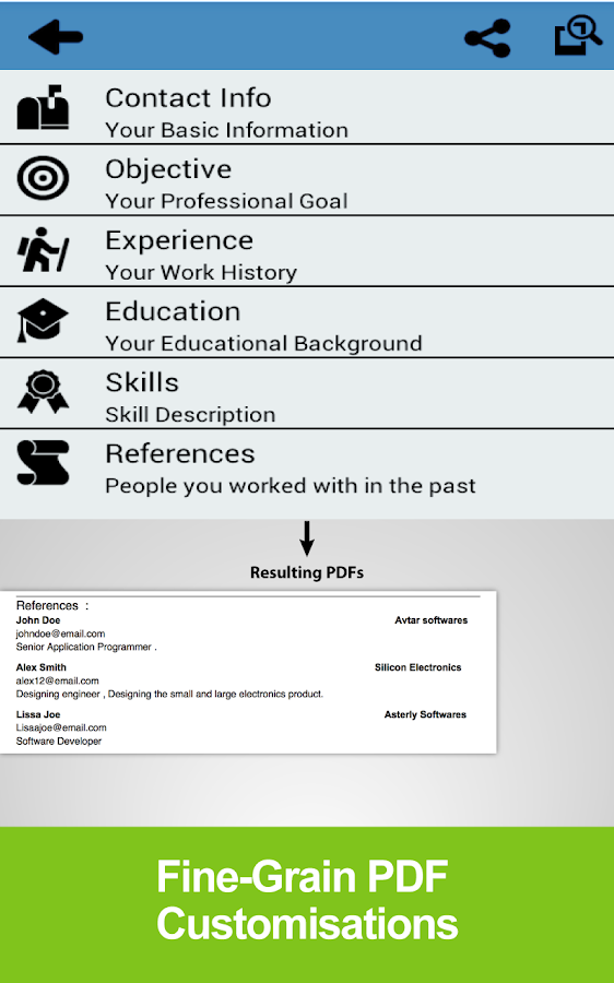 Resume Builder Free- screenshot