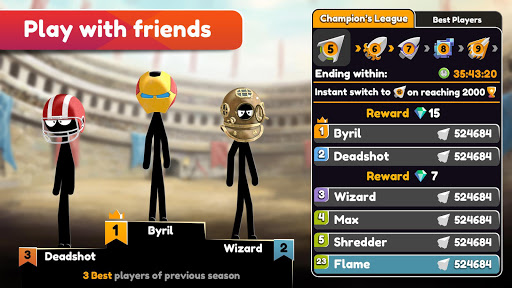 Stickman Archer Online android2mod screenshots 6