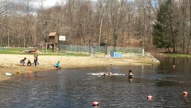 Photo: Spring swimming (before the leaves even filled the trees)