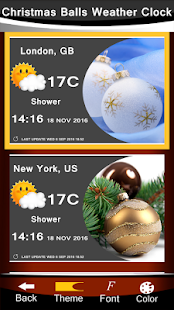 Christmas Balls Weather Clock - náhled