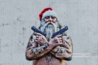 Photo: Santa's ready for the zombie apocalypse are you? Thank you to my most awesome model Mick Randall :)