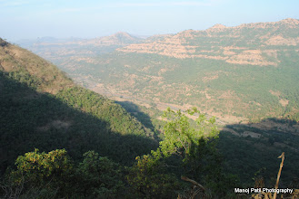 Photo: Top view from way on Chandragad... towards Dhavale village side...
