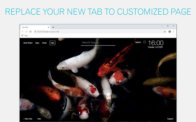 Koi Fish Wallpaper HD Koi Fishes New Tab