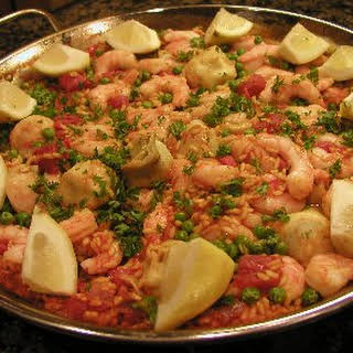 Spanish Shrimp Paella.