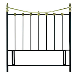 Classic Stylish Metal Floor Standing Headboard in Antique Brass Finish