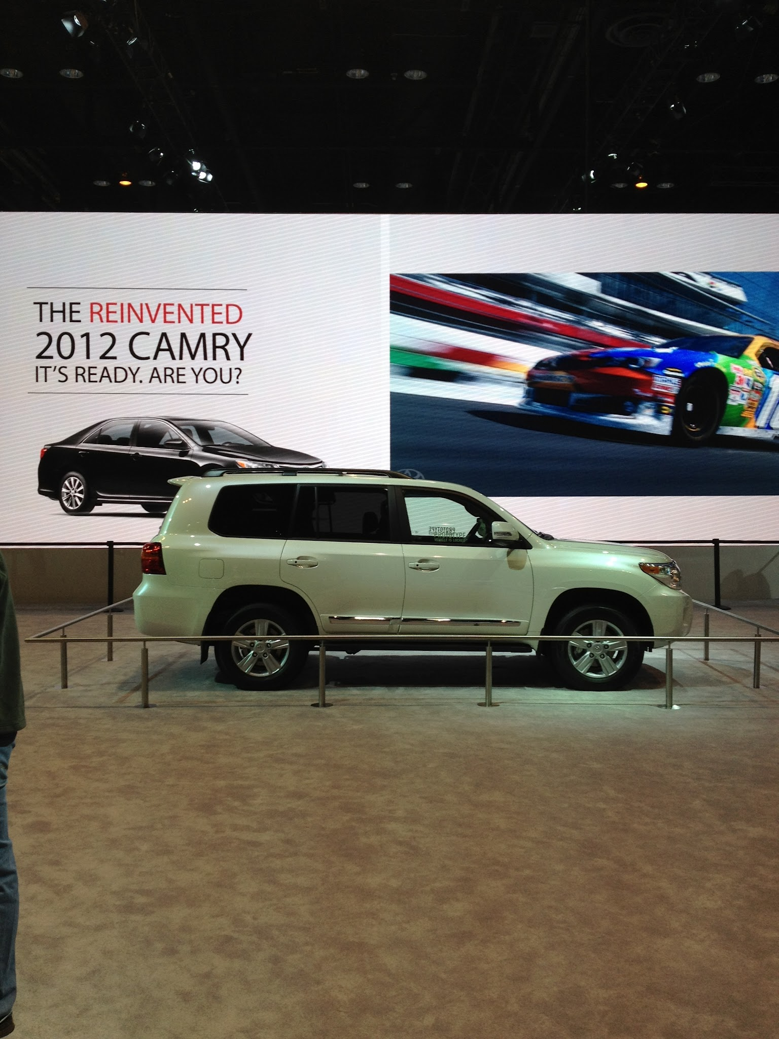 Photo: The 2013 Land Cruiser making its much awaited debut.