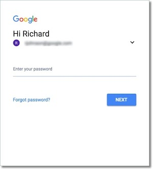 Enter your password to sign in to your Google Fiber account.