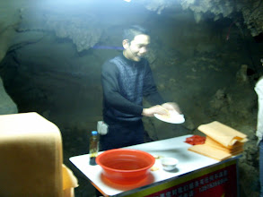 Photo: I shit you not, he was selling Sham Wows in the cave