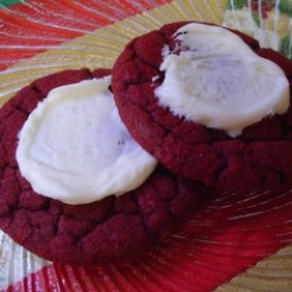 Red Velvet Cookies from Cake Mix