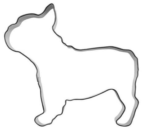 Kakform - Fransk bulldog, 10 cm