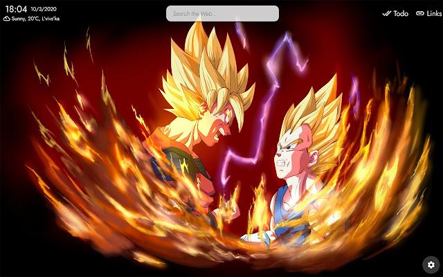 Dragon Ball Z New Tab Theme