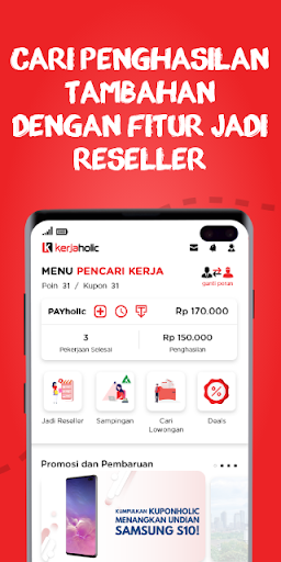 Kerjaholic – Find Workers, Jobs & Extra Income ss1