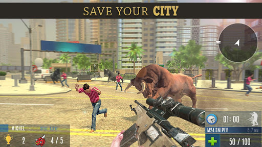 Angry Bull Attack Shooting  screenshots 3