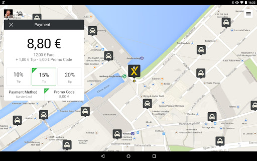 mytaxi – Fast & Secure Taxi Booking App screenshot 8