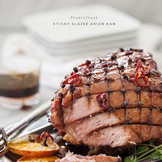 Sticky Glazed Asian Ham.