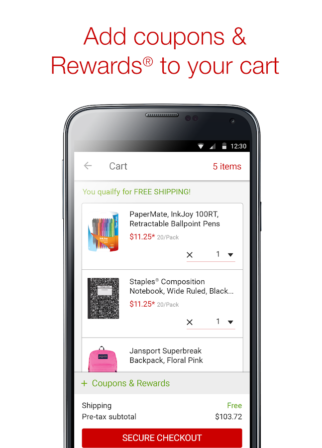 Staples® Mobile App - screenshot