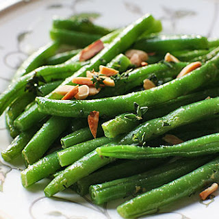 Green Beans with Almonds and Thyme.