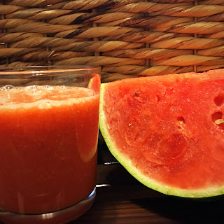 Watermelon and Grape Smoothie.