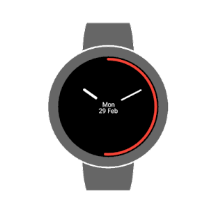 Flat times watch face Screenshot