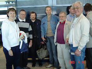 Photo: Matkalla Ateenaan - vasemmalta: Pirkko, Lasse, Seppo, Eero, Björn ja Heikki.