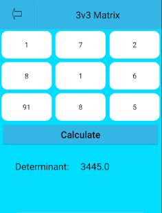 Matrix Bestimmend Taschenrechner Screenshot